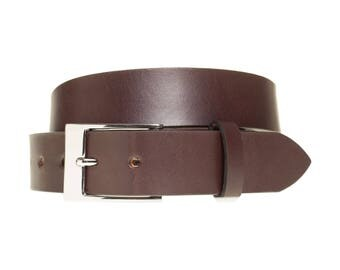 Dark Brown Leather Belts | US Leather | 3rd Anniversary Husband Gift | Made in America | Eco Tanned Leather | Natural Leather Belt