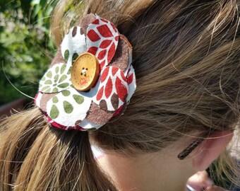 Cotton fabric Flower Hair Clip