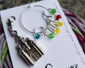 Worsted Small Knitting Stitch Markers | Snag Free Stitch Markers | Snagless Stitch Markers | Mulan Princess Stitch Markers