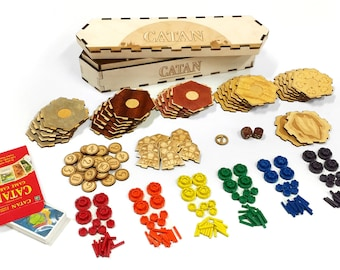 Lasercut Catan Set 5-6 players