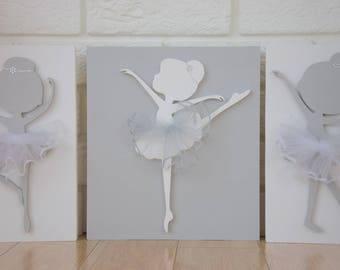pictures ballerina children's room sets of 3 pcs
