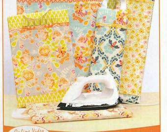 SALE! Sew Impressed - Pattern - Pressing Boards w/ Grid Ruler Pocket- Vanilla house Designs
