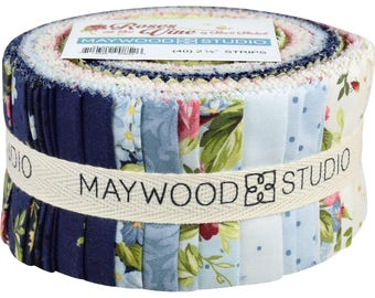 """NEW!  Roses on the Vine - Jelly Roll  - Maywood Studio - (40) 2.5"""" Strips by Marti Michell"""