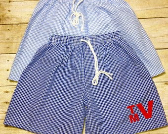 Boys/Toddler Gingham Swim Trunks/Boys Swim Trunks/Personalized Swim Suit/Monogrammed Swim Suits
