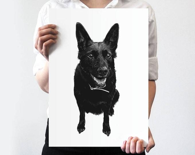 Pet Portrait BLACK & WHITE