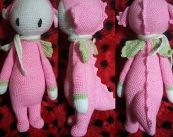 Strawberry the cuddly dragon wood model lalylala