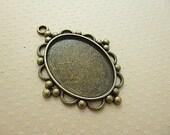 30x40 mm - Pendentif bronze pour cabochon ovale 30x40 mm - SCABOB3040-9973