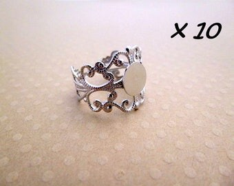 10 adjustable silver plated with 8 mm - L109934 holder