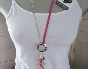 Pink long necklace