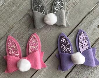 Easter Bunny ears headband   hair clip 