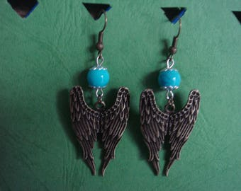 Dangling earrings, Angel Wings
