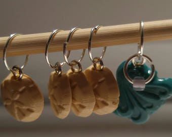 Surf and Sand Stitch Markers