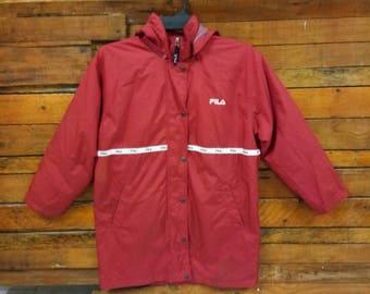 Rare Vintage Fila Windbreaker Jacket, Size L, Fila Jacket
