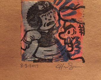 Original pop art print signed by the artist warhol archie nancy