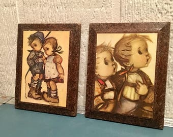 Pair of mounted Geniune Hummel Prints from West Germany