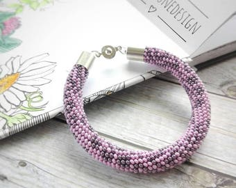 Handmade beaded crochet rope bracelet, beaded bracelet, crochet bracelet, gift for her