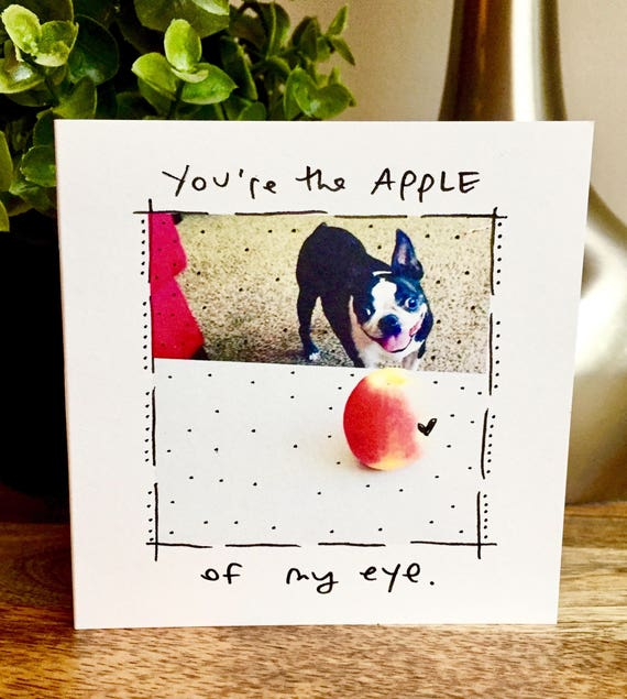 You're the apple of my eye, i love you card unique, thank you card, i love you card, card for her, card for him, thank you for being you,