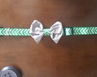 Chevron Bow Tie Collar