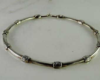 Substantial Sterling Choker Necklace