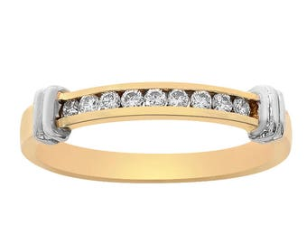 0.30 Carat Round Cut Diamond Men's Ring 14K Yellow Gold