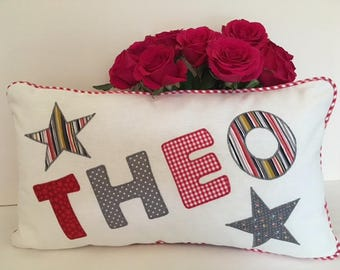Bespoke Boys Personalised Name Cushion