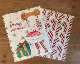Christmas mini and classic happy planner covers. Cute dear santa theme to decorate your planner in a fun holiday theme