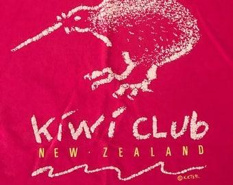 New Zealand Kiwi Club T-shirt 1991