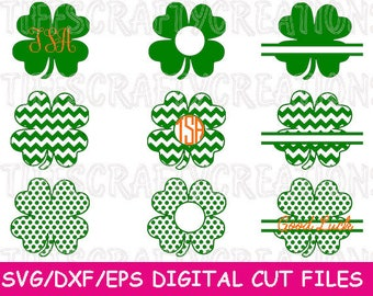 Cameo Cricut Files, Dfx Files for Cameo, Silhouette Files, St Patrick's svg, St Patrick's Day Svg, Shamrock Clover Svg, Lucky Svg