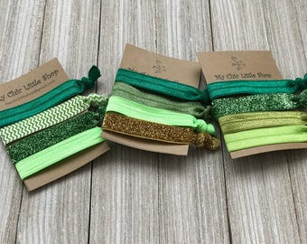 St. Patrick Theme Hair ties - A Set of 4
