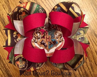 Harry Potter Inspired Stacked Boutique Bow