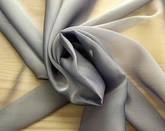 221146-Mouseline natural Silk Cangiante 100%, width 135/140 cm, chiffon litmus, made in Italy, dry washing, weight 35 gr