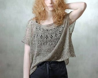 Oversize sweater - knit sweater from kid mohair and silk