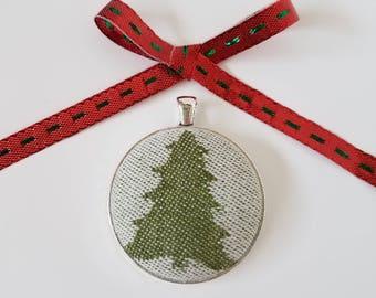 Wrap Scrap Jewelry - Large Pendant - Kokadi - Christmas - Wrap Scrap - Christmas Tree - Holiday Jewelry - Festive Jewelry - Tree