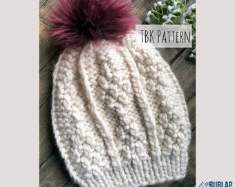 The Monarch Slouch-Knit Pattern-Super Chunky