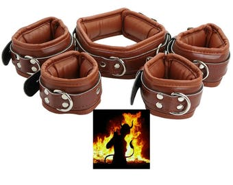 Fightset brown synthetic leather