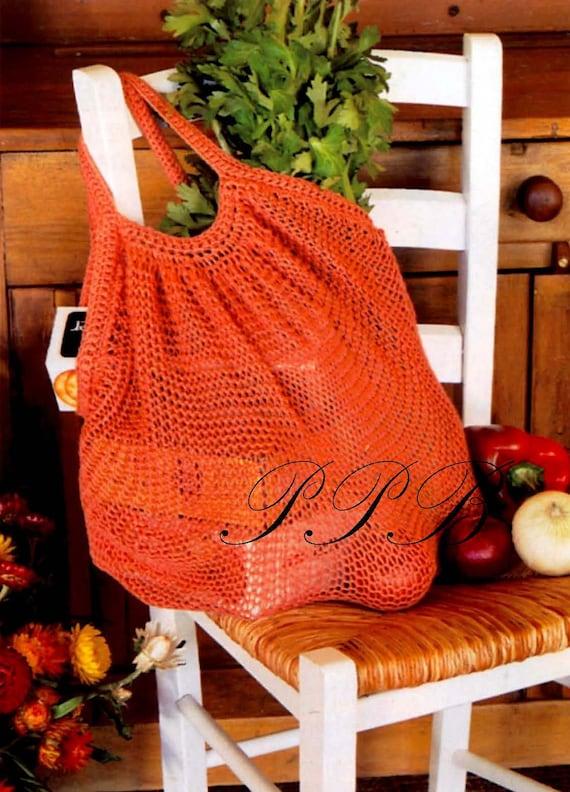 Knitted String Bag Pattern Shopping Bag Pattern Home Decor Pdf