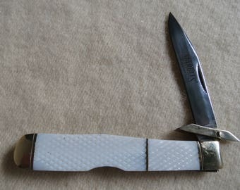 Marble's MOP Swing Guard Knife - Mother of Pearl Folding Pocket Knife