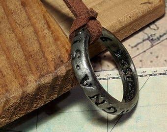 Nathan Drake's Ring Necklace - Francis Drake's Uncharted Ring - Sic Parvis Magna