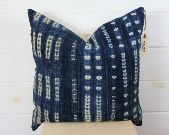 Shibori Mud Cloth Pillow