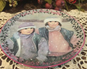 Collector Plate Children Always Together by Chantal Poulin