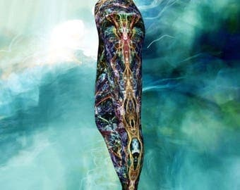 Festival Leggings,  Boho Yoga Leggings, tribal yoga leggings, Psychedelic Leggings, Tribal Clothing, Sacred Leggings, EDM, Rave Psytrance