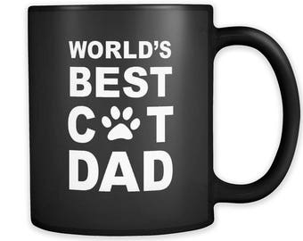 Cat Dad Mug, Cat Dad Gift, Gift for Cat Dad, Cat Owner Gift, Cat Lover Gift, Cat Mugs, Cat Gifts, Cat Fan, kitty Gifts, kitty Mugs #a026