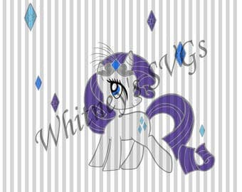 My Little Pony Rarity Birthday SVG DXF Cutting File