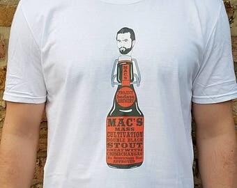 Mac's Mass Cultivation Double Black Stout T-Shirt.