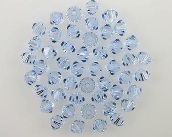 48 4mm Swarovski crystal bicone 5301 Lavender beads 7859