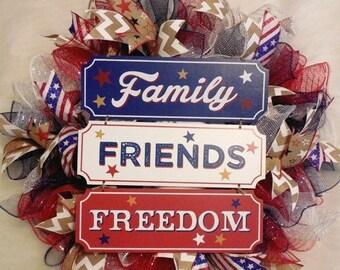 SALE Fourth of July Wreath, Fourth Of July, 4th of July Wreath, 4th of July, July 4th Wreath, Fourth of July Decor