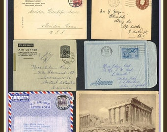Six Older World Covers and Postcards