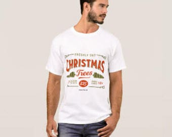 "Men's T-shirt ""Fresh Cut Christmas Trees"""