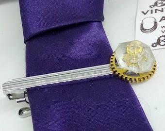 Handmade, steampunk tie slide, steampunk tie clip, steampunk tie bar, handmade tie clip, bridegroom, mens jewelry, wedding, steampunk