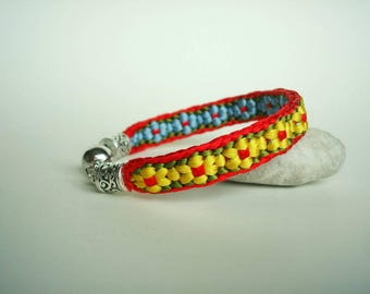 Colorful braided kumihimo bracelet Friendship bracelet Japan style Birthday gift Gift for girlfriend Gift ideas for her Gift for women